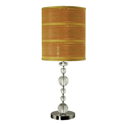 Glass Ball Lamp with Striped Shade