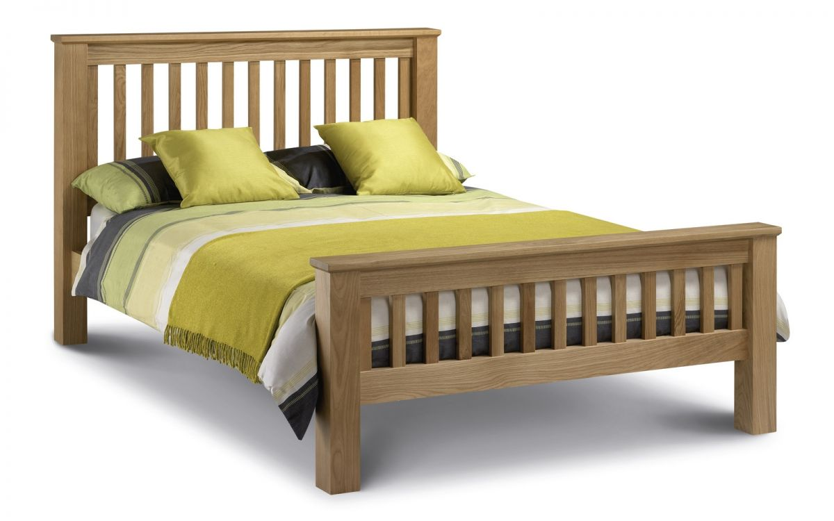 Amsterdam Oak Bed - High Foot End