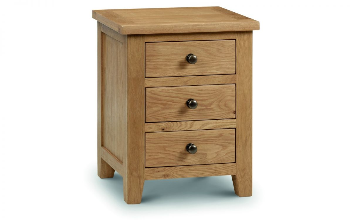 Marlbourough Oak 3 Drawer Bedside